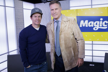 Will Ferrell Will Ferrell and Mark Wahlberg Visit Magic FM