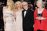 """Actress Lucy Punch, director Woody Allen, actress Naomi Watts, actress Gemma Jones attend the """"You Will Meet A Tall Dark Stranger"""" Premiere at the Palais des Festivals during the 63rd Annual Cannes Film Festival on May 15, 2010 in Cannes, France."""