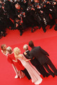 """Actress Lucy Punch, Actor Josh Brolin, director Woody Allen, actress Naomi Watts, actress Gemma Jones and Cannes Film Festival President Gilles Jacob attend the """"You Will Meet A Tall Dark Stranger"""" Premiere at the Palais des Festivals during the 63rd Annual Cannes Film Festival on May 15, 2010 in Cannes, France."""