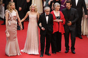 """Actresses actress Naomi Watts, Lucy Punch, Director Woody Allen, Actress Gemma Jones and Actor Josh Brolin attend the """"You Will Meet A Tall Dark Stranger"""" Premiere at the Palais des Festivals during the 63rd Annual Cannes Film Festival on May 15, 2010 in Cannes, France."""