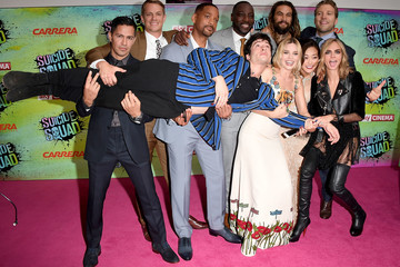 Will Smith Margot Robbie Celebs Speak at the 'Suicide Squad' Premiere in London