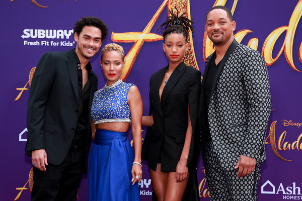 Premiere Of Disney's 'Aladdin' - Arrivals [aladdin,event,carpet,premiere,fashion,flooring,performance,fashion design,style,arrivals,jada pinkett smith,willow smith,trey smith,will smith,l-r,disney,premiere,premiere]
