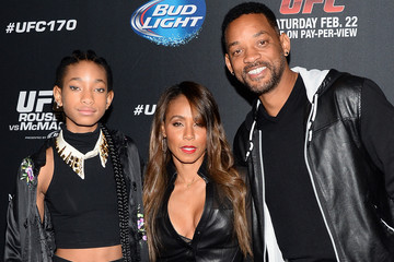Will Smith Willow Smith Celebrities Attend UFC 170 - Rousey v McMann