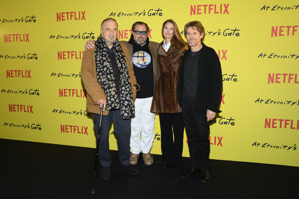 'At Eternity's Gate' Photocall At Le Louvre In Paris [at eternitys gate,yellow,event,premiere,louise kugelberg,willem dafoe,julian schnabel,jean-claude carriere,photocall,paris,le louvre,france]