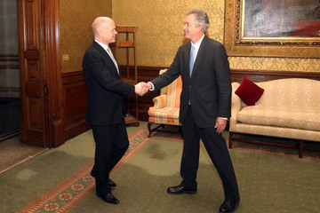 William Burns William Hague Meets US Under Secretery Of State At Foreign and Commonwealth Office