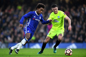 Willian Chelsea v Peterborough United - The Emirates FA Cup Third Round