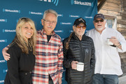 (L-R) Paula Nelson, Buddy Cannon, Willie Nelson, and Sirius XM's Dallas Wayne attend a discussion of Willie Nelson's new album 'Ride Me Back Home' during a taping for SiriusXM's Willie's Roadhouse at Luck Ranch on April 13, 2019 in Spicewood, Texas.