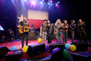 (L - R) Bobbie Nelson, Willie Nelson, Paul English, Lukas Nelson, Amy Nelson, Mickey Raphael, Jamey Johnson, Charlie Starr, Micah Nelson and John Doe perform in concert at ACL Live on December 31, 2017 in Austin, Texas. (Photo by Gary Miller/Getty Images