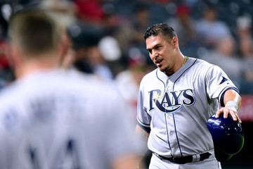Wilson Ramos Tampa Bay Rays v Los Angeles Angels of Anaheim