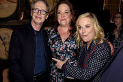"Steve Buscemi, writer Emily Spivey and director Amy Poehler attend the ""Wine Country"" World Premiere After Party at The Oak Room on May 08, 2019 in New York City."