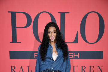 Winnie Harlow Polo Red Rush Launch Party With Ansel Elgort