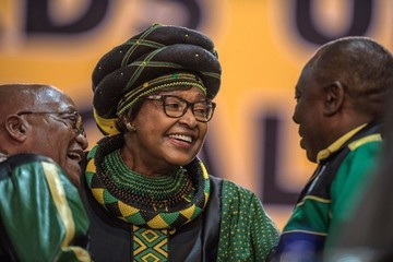 Winnie Mandela South Africa's Struggling ANC Elects Ramaphosa As New Head