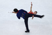 Qing Pang and Jian Tong of China compete in the Figure Skating Pairs Free Skating during day five of the 2014 Sochi Olympics at Iceberg Skating Palace on February 12, 2014 in Sochi, Russia.