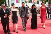 (L-R) Actor Haluk Bilginer, actress Melisa Sozen, director Nuri Bilge Ceylan, writer Ebru Ceylan and actress Demet Akbag attend the 'Winter Sleep' premiere during the 67th Annual Cannes Film Festival on May 16, 2014 in Cannes, France.