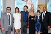 (L-R) Josh Gad, Ashley Greene, Zach Braff, Kate Hudson, Joey King and Donald Faison attend the 'Wish I Was Here' screening at AMC Lincoln Square Theater on July 14, 2014 in New York City.