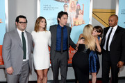 "(L-R) Josh Gad, Ashley Greene, Zach Braff, Kate Hudson, Joey King and Donald Faison attend the ""Wish I Was Here"" screening at AMC Lincoln Square Theater on July 14, 2014 in New York City."