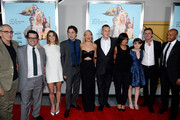 "(L-R) Michael Shamberg, Josh Gad, Ashley Greene, Zach Braff, Kate Hudson, Peter Schlessel, Christine Birch, Joey King, Adam Braff and Donald Faison attend the ""Wish I Was Here"" screening at AMC Lincoln Square Theater on July 14, 2014 in New York City."