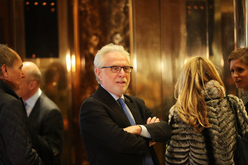 Wolf Blitzer President-Elect Donald Trump Holds Meetings At His Trump Tower Residence In New York