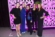 (L-R) Hilary Knight, Meghan Duggan, Billie Jean King, Mary Carillo and Julie Foudy pose for a photo onstage during The Women's Sports Foundation's 39th Annual Salute To Women In Sports And The Girls They Inspire Awards Gala on October 17, 2018 in New York City.