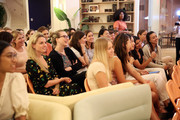 "Guests participate in an audience Q&A during a WTA panel discussion, ""Women in Tennis Taking Action: A Conversation on Women in Sports"" at The Wing, Dumbo on August 21, 2019 in New York City."