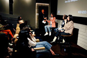 (L-R) Alex Zhang Hungtai, Tabitha Denholm, Ana Lily Amirpour and Karen O speak on stage after the Women Under The Influence Screening of Kenzo's Yo My Saint with Karen O and Ana Lily Amirpour at NeueHouse Hollywood on March 1, 2018 in Los Angeles, California.