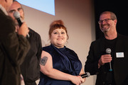 (L-R) Director Gus Van Sant, Actor Joaquin Phoenix, Actress Beth Ditto and Keith Simanton of IMDb speak on stage after a screening of the film 'Don't Worry, He Won't  Get Far On Foot' during the Seattle International Film Festival at SIFF Cinema Egyptian on June 10, 2018 in Seattle, Washington.