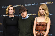 "Kate Winslet, Woody Allen and Juno Temple attend the ""Wonder Wheel"" screening at Museum of Modern Art on November 14, 2017 in New York City."