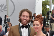 "T.J. Miller and Kate Gorney attend the ""Wonderstruck"" screening during the 70th annual Cannes Film Festival at Palais des Festivals on May 18, 2017 in Cannes, France."