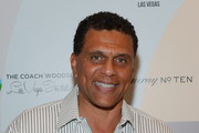 Former professional basketball player Reggie Theus arrives at the Coach Woodson Las Vegas Invitational red carpet and pairings gala at 1 OAK Nightclub at The Mirage Hotel & Casino on July 8, 2017 in Las Vegas, Nevada.