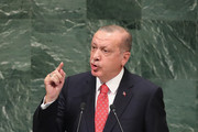 President of Turkey Recep Tayyip Erdogan speaks at the United Nations General Assembly on September 25, 2018 in New York City. The United Nations General Assembly, or UNGA, is expected to attract 84 heads of state and 44 heads of government in New York City for a week of speeches, talks and high level diplomacy concerning global issues. New York City is under tight security for the annual event with dozens of road closures and thousands of security officers patrolling city streets and waterways.
