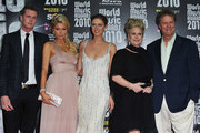 (L-R) Barron Nicholas Hilton, Paris Hilton, Nicky Hilton, Kathy Hilton and Rick Hilton attend the World Music Awards 2010 at the Sporting Club on May 18, 2010 in Monte Carlo, Monaco.