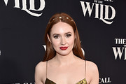 """Karen Gillan arrives at the World Premiere of 20th Century Studios' """"The Call of the Wild"""" at the El Capitan Theatre on February 13, 2020 in Hollywood, California. The film releases on Friday, February 21, 2020."""