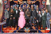 "(L-R front) Producer Dan Lin, actors Nasim Pedrad, Marwan Kenzari, Naomi Scott, Mena Massoud, Will Smith, Navid Negahban, Composer Alan Menken and co-lyricists Benj Pasek and Justin Paul. (L-R back) SVP, Production, The Walt Disney Studios, Louie Provost, Walt Disney Studios President, Alan Bergman, Director Guy Ritchie, Chairman, The Walt Disney Studios, Alan Horn, President of Walt Disney Studios Motion Picture Production, Sean Bailey, Producer Jonathan Eirich and actor Numan Acar attends the World Premiere of Disney?s ""Aladdin"" at the El Capitan Theater in Hollywood CA on May 21, 2019, in the culmination of the film?s Magic Carpet World Tour with stops in Paris, London, Berlin, Tokyo, Mexico City and Amman, Jordan."