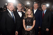 """(L-R) Producer Peter Del Vecho, Director Chris Buck, Director/writer/Walt Disney Animation Studios CCO Jennifer Lee, The Walt Disney Company Chairman and CEO Bob Iger, and Co-Chairman and Chief Creative Officer of The Walt Disney Studios Alan Horn attend the world premiere of Disney's """"Frozen 2"""" at Hollywood's Dolby Theatre on Thursday, November 7, 2019 in Hollywood, California."""