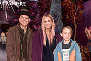 "(L-R) Evan Ross, Jagger Snow Ross, Ashlee Simpson, and Bronx Wentz attend the world premiere of Disney's ""Frozen 2"" at Hollywood's Dolby Theatre on Thursday, November 7, 2019 in Hollywood, California."
