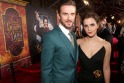 """Actors Dan Stevens and Emma Watson arrive for the world premiere of Disney's live-action """"Beauty and the Beast"""" at the El Capitan Theatre in Hollywood as the cast and filmmakers continue their worldwide publicity tour on March 2, 2017 in Los Angeles, California."""