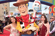 (L-R) Sarah Jeffery and Emma Kenney attend the world premiere of Disney and Pixar's TOY STORY 4 at the El Capitan Theatre in Hollywood, CA on Tuesday, June 11, 2019.