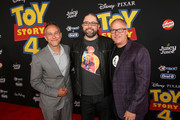 (L-R) Producer Jonas Rivera, director Josh Cooley and producer Mark Nielsen attend the world premiere of Disney and Pixar's TOY STORY 4 at the El Capitan Theatre in Hollywood, CA on Tuesday, June 11, 2019.