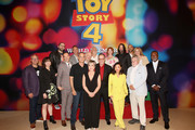 Producer Mark Nielsen, Kristen Schaal, Director Josh Cooley, Tony Hale, Producer Jonas Rivera, Tom Hanks, Annie Potts, Wallace Shawn, John Ratzenberger, Tim Allen, Christina Hendricks, Keanu Reeves, Ally Maki, Keegan-Michael Key, Bonnie Hunt, Blake Clark and Carl Weathers attend the world premiere of Disney and Pixar's TOY STORY 4 at the El Capitan Theatre in Hollywood, CA on Tuesday, June 11, 2019.