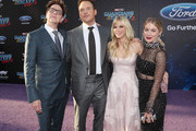 """(L-R) Writer/director James Gunn, actors Chris Pratt, Anna Faris and Jennifer Holland at The World Premiere of Marvel Studios' """"Guardians of the Galaxy Vol. 2."""" at Dolby Theatre in Hollywood, CA April 19th, 2017"""
