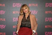 """Isabella Ferrari attends the World Premiere Of Netflix's """"Baby"""" at Giulio Cesare Cinema on November 27, 2018 in Rome, Italy."""