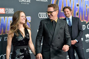 "(L-R) Susan Downey, Robert Downey Jr. and Bradley Cooper attend the world premiere of Walt Disney Studios Motion Pictures ""Avengers: Endgame"" at the Los Angeles Convention Center on April 22, 2019 in Los Angeles, California."