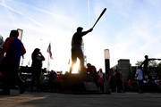 The statue of Cleveland Indians great Jim Thome is seen prior to Game Seven of the 2016 World Series between the Chicago Cubs and the Cleveland Indians at Progressive Field on November 2, 2016 in Cleveland, Ohio.