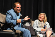 """Rabbi Shmuley Boteach and Roseanne Barr participate in """"Is America a Forgiving Nation?,'' a Yom Kippur eve talk on forgiveness hosted by the World Values Network and the Jewish Journal at Saban Theatre on September 17, 2018 in Beverly Hills, California."""