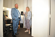 """Rabbi Shmuley Boteach and Roseanne Barr hold a press conference prior to participating in """"Is America a Forgiving.Nation?,'' a Yom Kippur eve talk on forgiveness hosted by the World Values.Network and the Jewish Journal at Saban Theatre on September 17, 2018 in Beverly Hills, California."""