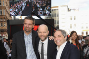 President of Production Marc Evans, Director Marc Forster and President of Paramount Film Group Adam Goodman attend the World Premiere of 'World War Z' at The Empire Cinema on June 2, 2013 in London, England.