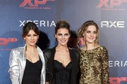 "(L-R) Actresses Ursula Corbero, Amaia Salamanca and Alba Ribas attend ""XP3D"" premiere at the Callao cinema on December 27, 2011 in Madrid, Spain."