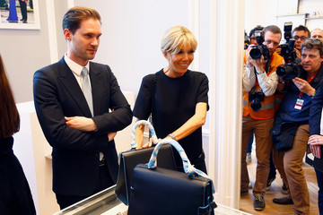 Xavier Bettel Visit of the Partners of the Heads of State and Government at Delvaux Le 27