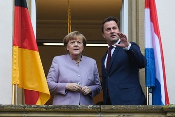 Xavier Bettel German Chancellor Angela Merkel Goes on an Official Visit to Luxembourg