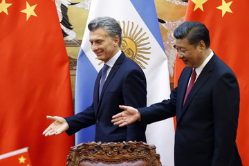 Xi Jinping Argentine President Mauricio Macri on State Visit to China